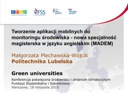 Małgorzata Plechawska-Wójcik - Fundusz Stypendialny i Szkoleniowy