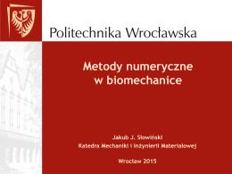 MES_wyklad_2015 - Katedra Mechaniki i Inżynierii Materiałowej