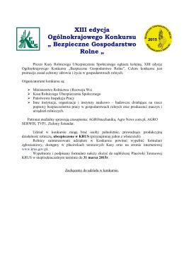 BGR 2015 Ogłoszenie o konkursie