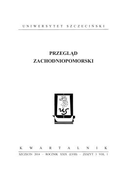 Vol. 1 - Przegląd Zachodniopomorski