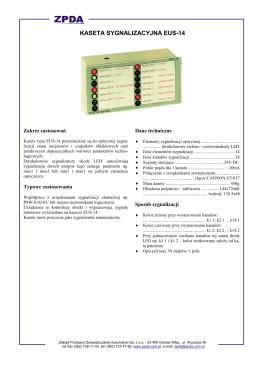 kaseta sygnalizacyjna eus-14