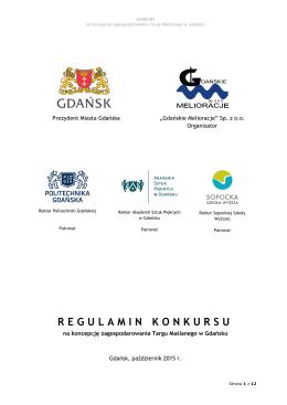 Regulamin konkursu na koncepcję zagospodarowania Targu