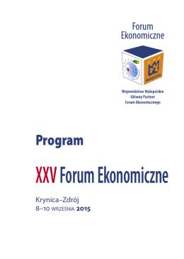 program forum - Forum Ekonomiczne
