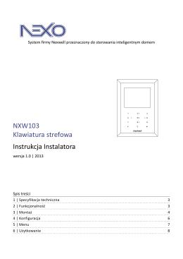 NXW103 | Instrukcja