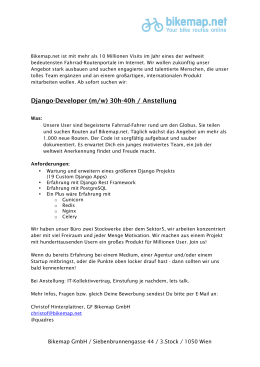 Django-Developer (m/w) 30h