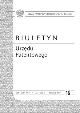 bup19_2009 - Wyszukiwarka Urzędu Patentowego