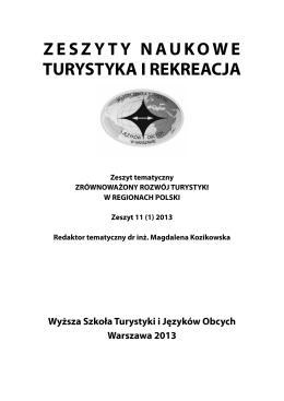 Contents - Wydawnictwa Wyższej Szkoły Turystyki i Języków