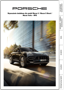 Wyposażenie dodatkowe dla modeli Macan S / Macan S Diesel