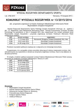 Komunikat WR nr - Polski Związek Koszykówki