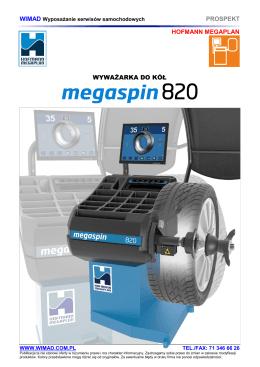 HOFMANN MEGAPLAN - wyważarki do kół Megaspin 820