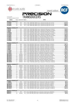 RCF - Precision Transducers - Głośniki