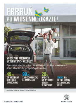 Gazetka Wiosna 2015 Peugeot BMP