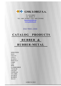 CATALOG PRODUCTS RUBBER & RUBBER