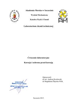 Tytuł ćwiczenia - Akademia Morska w Szczecinie