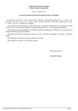 Zarzadzenie Nr VII/82/2015 z dnia 11 sierpnia 2015 r.