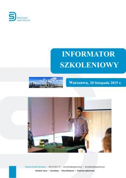 INFORMATOR SZKOLENIOWY