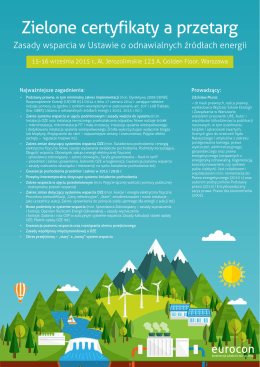 Zielone certyfikaty a przetarg