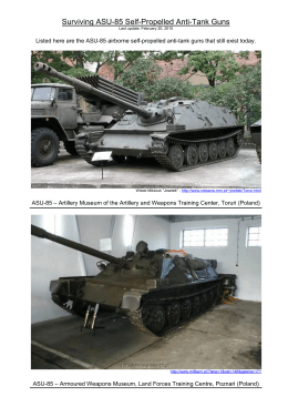 Surviving ASU-85 Self-Propelled Anti-Tank Guns