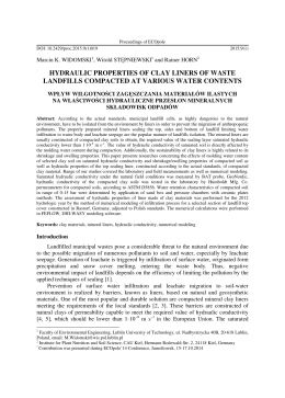 hydraulic properties of clay liners of waste landfills compacted