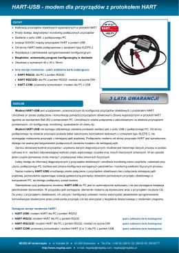 HART-USB - modem dla przyrządów z protokołem HART