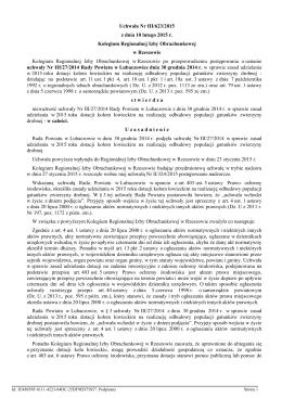 Uchwala Nr III/623/2015 z dnia 10 lutego 2015 r.