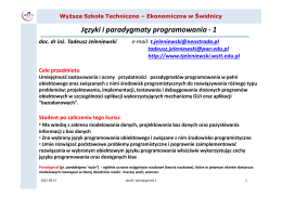 Języki i paradygmaty programowania