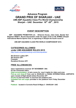 GRAND PRIX OF SHARJAH - UAE
