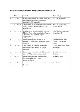 Seminaria programu Searching Identity, semester zimowy 2015/16 (V)