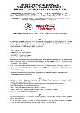 Regulamin Konkursu … - Polska Technika Górnicza SA