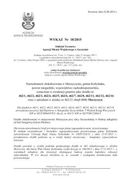 WYKAZ Nr 18/2015 - Agencja Mienia Wojskowego