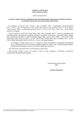 Uchwala Nr IX.96.15 z dnia 25 sierpnia 2015 r.