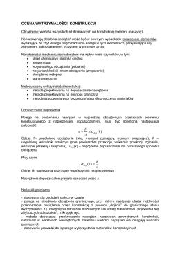 Metody Oceny Wytrzymałości Konstrukcji