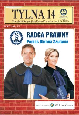 Nr 18/2015 - Okręgowa Izba Radców Prawnych