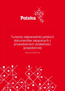 Tureckie odpowiedniki polskich dokumentów związanych z