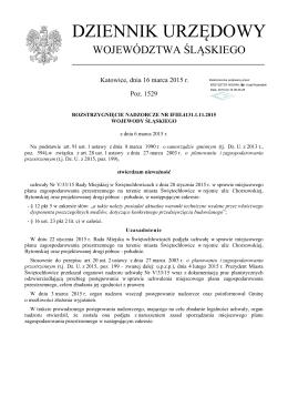 Rozstrzygnięcie nadzorcze Nr IFIII.4131.1.11.2015 z dnia 6 marca