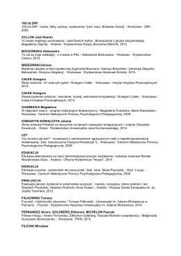 Zobacz listę z czerwca