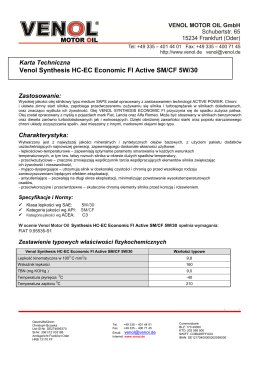 Venol Synthesis HC-EC Economic FI Active SM