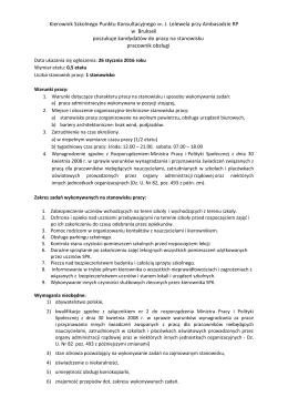 Kierownik Szkolnego Punktu Konsultacyjnego im. J. Lelewela przy