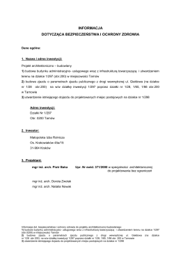 Architektura - Budowlany - B - Informacja BIOZ