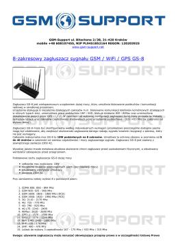 8-zakresowy zagłuszacz sygnału GSM / WiFi / GPS