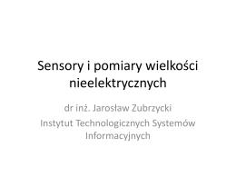 Sensory i pomiary wielkości nieelektrycznych