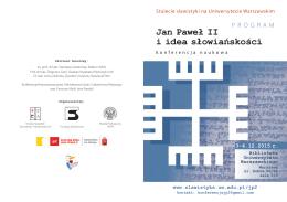 Ulotka z programem - Instytut Slawistyki PAN