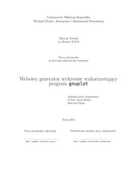 Webowy generator wykresów wykorzystujący program gnuplot