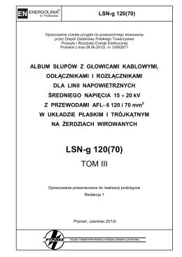 LSN-g 120(70) - Polskie Towarzystwo Przesyłu i Rozdziału Energii