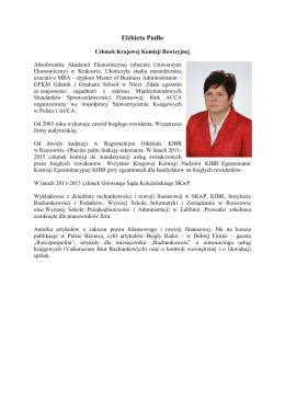 Elżbieta Pudło - Krajowa Izba Biegłych Rewidentów