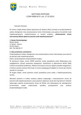 ZAPYTANIE OFERTOWE I.ZOWI-000014/15 z dn