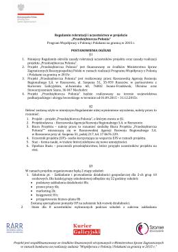 Regulamin - Rzeszowska Agencja Rozwoju Regionalnego SA
