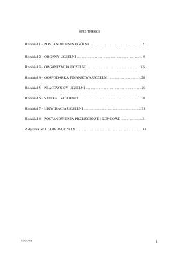2 Rozdział 2 – ORGANY UCZELNI - Rekrutacja on-line