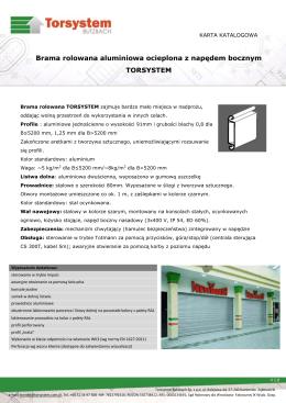 Pobierz prospekt - Torsystem Butzbach Sp. z o.o.
