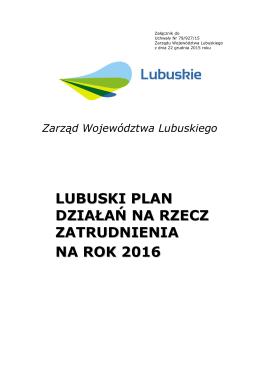 Zarząd Województwa Lubuskiego - Wojewódzki Urząd Pracy w